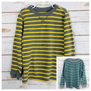 Carter's Green Yellow Striped Shirt Lot of 2